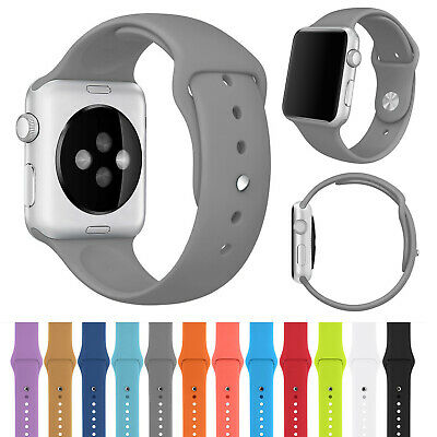 Silicone Strap Bracelet Sport Watch Band For Apple iWatch Series 2 3 4 5 40 44mm