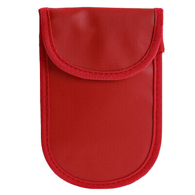 Red Car Key Signal RFID Blocking Faraday Fob Pouch Keyless Case Anti-Car Theft