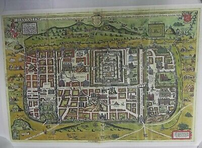 Ancient Templar Map of Jerusalem Showing Old Sites Very Detailed