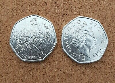 London Summer Olympic 2012 05/29 Basketball 50P Coin 2011 Fifty Pence !