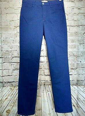 Laura Ashley Womens Color Washed Jeans Size 10 Royal Blue Straight Leg Stretchy