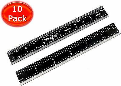 "Benchmark Tools 10 Ea 6"" 5R Rigid Machinist Ruler Grad Black Chrome Stainless"