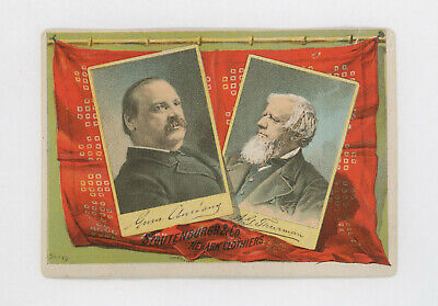 1888 Cleveland Thurman Presidential Campaign Clothing Ad Victorian Trade Card