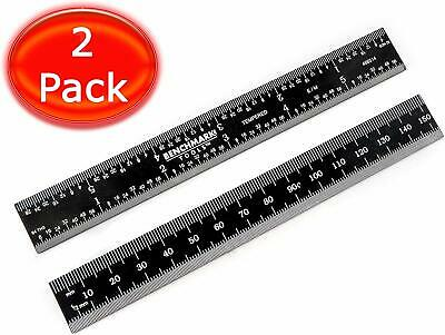 "Benchmark 2 Ea 6"" 5R Rigid English Machinist Ruler Grad Black Chrome Stainless"