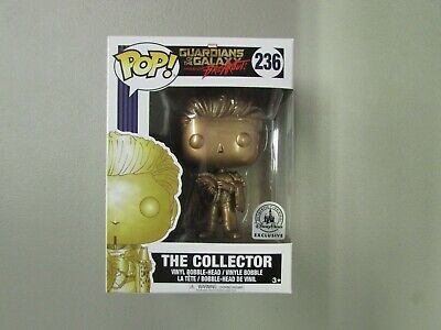 Funko Pop! Marvel Guardians of the Galaxy The Collector Gold Disney Parks Excl