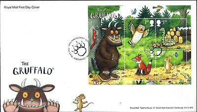 Gb 2019 Fdc The Gruffalo Stamps Miniature Sheet & Collector Sheet On Fdc & Vfu