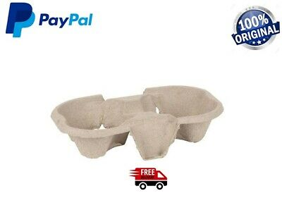 Cardboard Cup Holder Tray Hot Cold Drink Carrier Biodegradable Take Away Trays