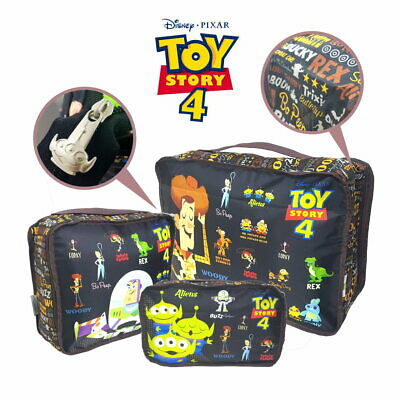 Disney Toy Story Exclusive Travel Accessories Set of 3 Luggage Storage Bag