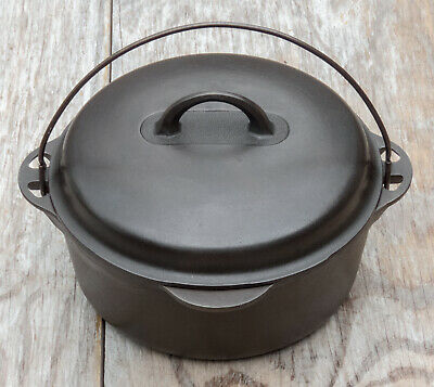 Griswold Cast Iron No. 8 1278 Dutch Oven Large Logo w/ 2648 Clean Easy Lid