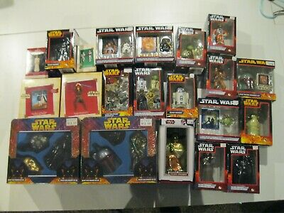 Lot of 29 Star Wars Kurt S. Adler Hallmark Collectible X-Mas Christmas Ornaments