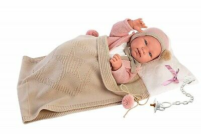 Llorens Doll Baby Shelly Infant Girl in Pouch 43cm New 84318