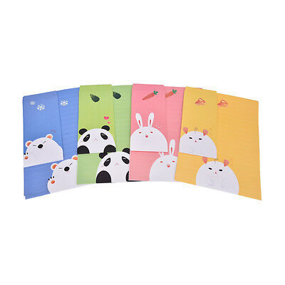 Cute Animal Letter set Writing Stationary papers Envelope for Postcard &LetteTR