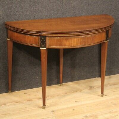 Table Game a Halfmoon Shaped Furniture Wooden Antique Style Small Console 900