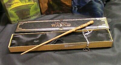 Harry Potter Young Albus Dumbledore  Wand w// FREE Deathly Hallow Necklace