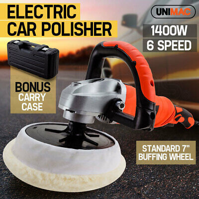NEW UNIMAC Polisher Car Buffer Electric Detailing Tool 180mm Buff Pad Auto Wax