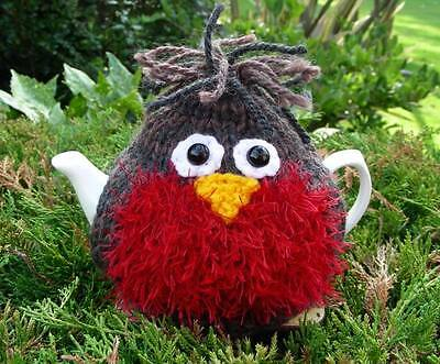 Hand Knitted Robin Tea Cosy - for small 2 cup teapot