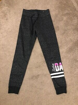 "Justice Grey Jog Pants With Sequin ""dance"" On Leg Bought In USA Size 8 Yrs"