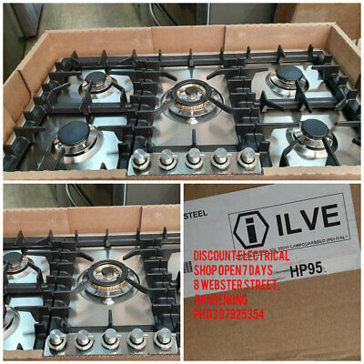New Ilve HP95D/SS 90cm Gas Cooktop with Wok MADE IN ITALY Natural/LPG Gas