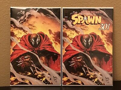 Spawn # 301 Greg Capullo Cover C Virgin Variant & Cover B Variant Cover