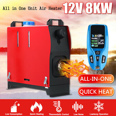 12V 1KW-8KW Diesel Air Heater Remote Control LCD Display For Truck Bus Motorhome