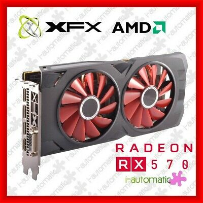 XFX AMD Radeon RX 570 4GB GDDR5 Gaming Graphics Card Great Condition Warranty