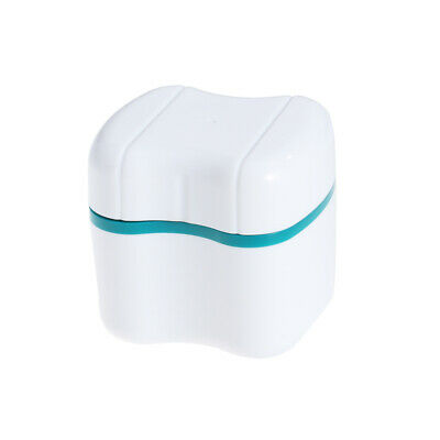 Non-toxic Lightweight Portable Durable Denture Retainer Case with Rinsing Basket