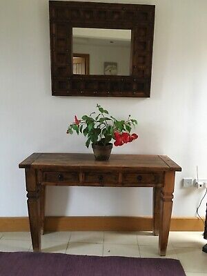 Thanatos Tall Hall table and mirror with 2 x small tables.
