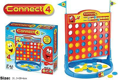 Connect 4 In A Row Four In A Line Board Game Family X-Mas Gift