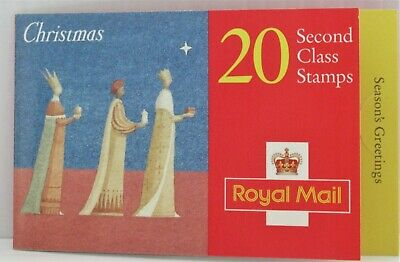 GB QE2 Barcode Booklet Christmas 1996  20 X 2nd Class  Cyl  LK12 ( C22 )