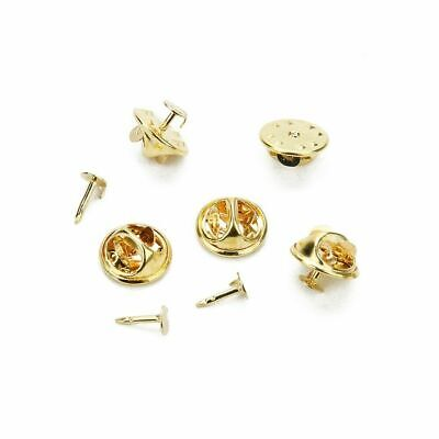 15 Sets brooch lapel pin badge backs findings components GOLD colour