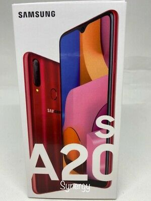"SAMSUNG GALAXY  A20s SM-A207M/DS Dual Sim  UNLOCKED) 6.5"" 32GB 3GB RAM RED"
