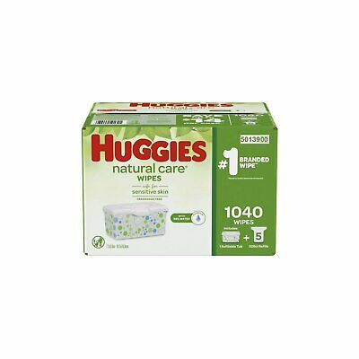 Huggies Natural Care Baby Wipe Refill for Sensitive Skin Fragrance Free 1,040 ct