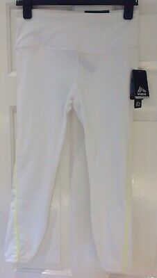 BNWT RBX Large Girls (L/G) Leggings Active Fitness Running Pants White 7/8 Long