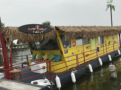 Turnkey 2000 46' Tiki Food Boat w/ Full Kitchen and Restroom in Great Condition