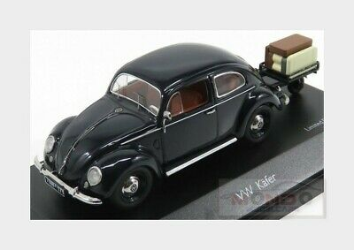 Volkswagen Beetle Kafer 1951 With Trailer Blue Schuco 1:43 SH3894 Modellbau