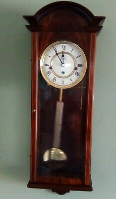 Vintage Comitti Of London 8 Day Mahogany Musical Westminster Chime Wall Clock