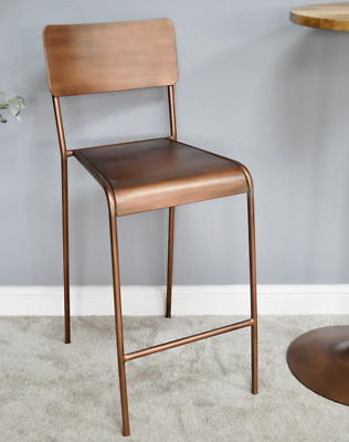 Bar Stool with antique copper finish