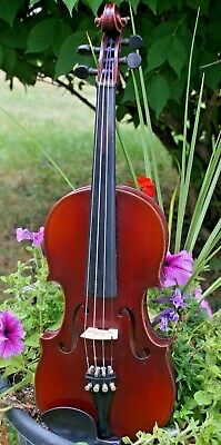 1930s German E.R. Schmidt 3/4 violin w case and bow. Ready to play!