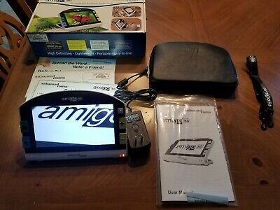 "Amigo HD Enhanced Vision Magnifier Color 7"" Handheld Reading-Aid Display"