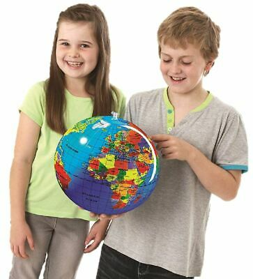 Inflatable Globe Map Ball World Earth Atlas Educational Toy 30cm