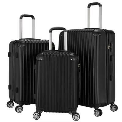 "New 3Pcs Travel Luggage Bag ABS Trolley Spinner Suitcase TSA Lock 20""/24""/28"""