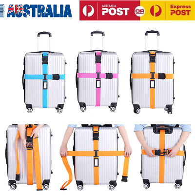 Luggage Packing Belt Travel Suitcase Bandage Adjustable Belt Lock Strap AU Stock