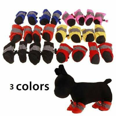 4Pcs Waterproof Pet Non-slip Shoes Winter Cat Dog Snow Boots Warm Puppy Booties