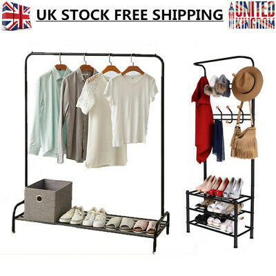 Heavy Duty Garment Clothes Rail Display Rack Hanging For Home Shop 4ft 5ft 6ft