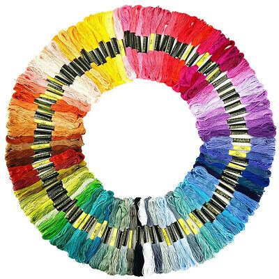 100 Colors/Pack Rainbow Embroidery Floss Cross Stitch Threads DIY Crafts Cords