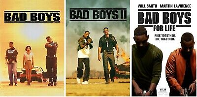 Bad Boys For Life Trilogy Poster Collection (Set of 3) - NEW - 11x17 13x19