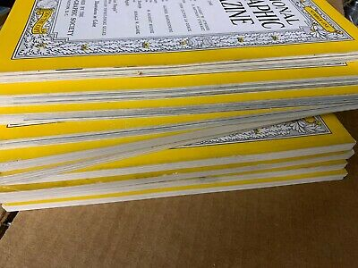 10 Random Issues (No Duplicates) of 1940s National Geographic Magazine, No Maps