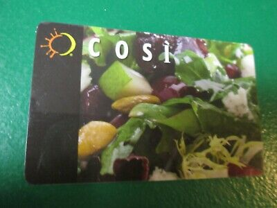 GIFT CARD $10.00 COSI Restaurant Dining Food Coffee Cafe Sandwich Certificate
