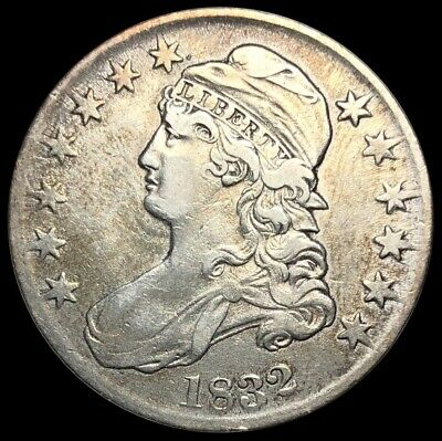 1832 Capped Bust Half Dollar 50c Silver - Excellent Detail (C101)