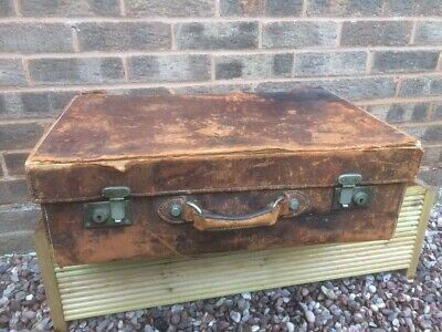 Vintage Leather Suitcase - Very Well Worn